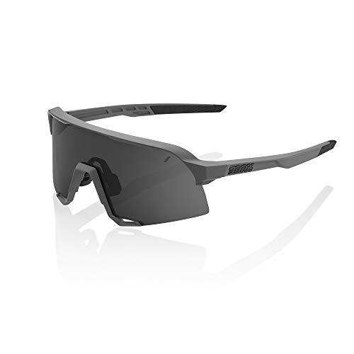 100 Percent S3-Grey-Smoke Lens Gafas, Hombres, Gris/Cristal Oscuro, Mediano