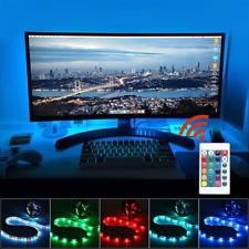 "TV BACKLIGHT FOR DESKTOP PC- 6.4ft USB LED Moodlight 60"" TV RGB NIGHTLIGHT FOR ADULTS- LED STRIPS- With remote control"