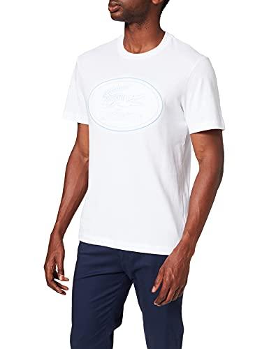 Lacoste TH0453 Camiseta, Blanc, L para Hombre