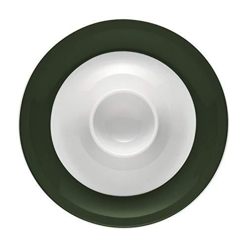 Thomas Sunny Day Coquetier avec Assiette, Porcelaine, Vert Foncé, 15525