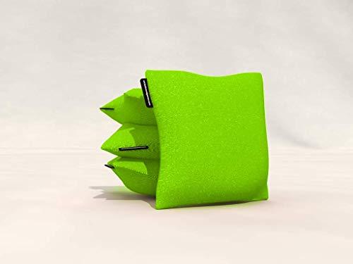 Wicked Wood Games Cornhole Bags – 2x4 compatible con ACO – (verde/rojo)