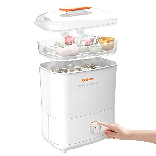 Bololo Baby Bottle Electric Steam Ster!lizer and Dryer   600W Stronger Power san!tize   Dial Knob Ster!lizer  Drying Function