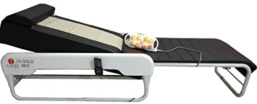 Carefit V3 Gold Bed Master Therapeutic Pain Relief Automatic Spine Jade Massager - Portable...