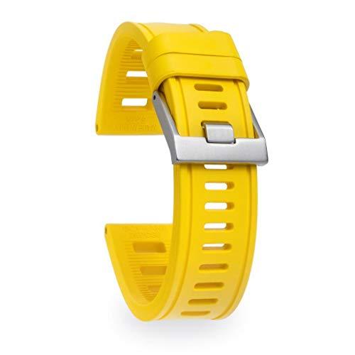 isofrane Correa de goma para relojes deportivos y buceo, 22 mm, color amarillo