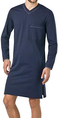 Herren Nachthemd mit langem Arm , M , Nachtblau