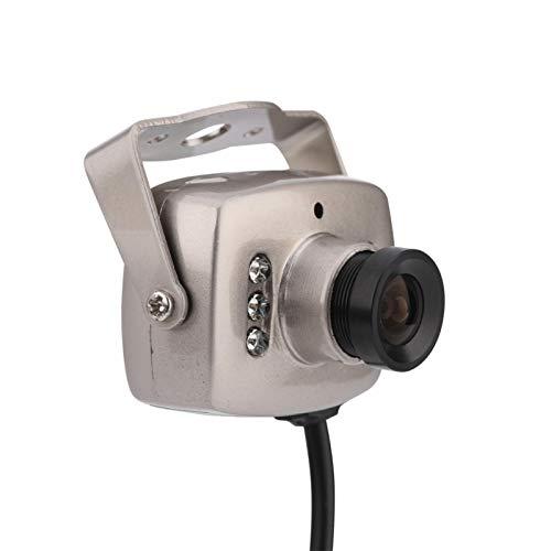 Mini cámara de seguridad CCTV CMOS con cable de 6 LED, PAL/NTSC, cámara de vigilancia de audio/video, cámara de video digital nocturna, para comunidad residencial, hogar, hotel, etc.(CAMARADA)