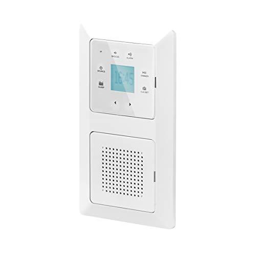 UNITEC Unterputz UP Radio mit Touchfunktion und Bluetooth in weiß, senkrecht und waagrecht montierbar