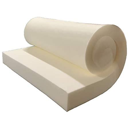 "GoTo Foam 3"" Height x 24"" Width x 72"" Length 36ILD (Semi-Firm) Upholstery Cushion Made in USA"