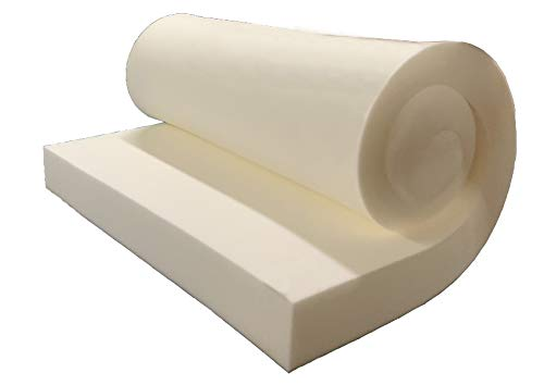 """GoTo Foam 2"""" Height x 18"""" Width x 18"""" Length 44ILD (Firm) Upholstery Cushion Made in USA"""