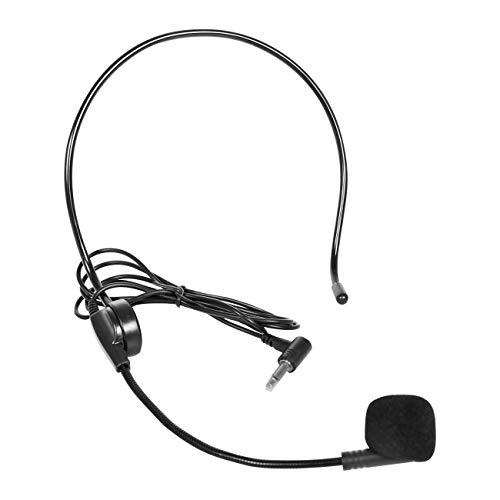 Giecy Micrófono con cable para amplificador de voz, micrófono flexible ajustable para profesores, entrenadores, presentaciones, ancianos