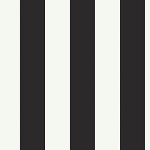 York Wallcoverings Disney Kids DK5994 Silk Stripe Wallpaper, Black/White