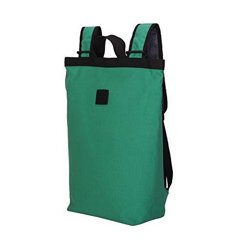 リュック レディース バックパック キャンバストートバッグ 人気 カジュアルリュック 防水 リュック アウトドア (ダックグリーン, L)