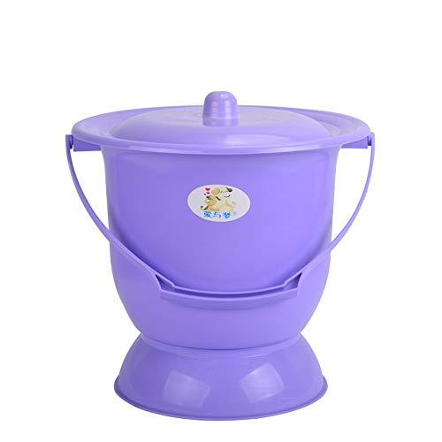 QMJYP Cubo con Tapa Ideal para Inodoro de Camping, Inodoro Orinal, urinario de plástico para el hogar para Adultos/Ancianos/niños Inodoro de plástico