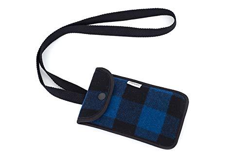 Pijama Porta Telefono/Porta Occhiali da Collo in Tessuto Buffalo Blu e Neoprene