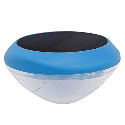 Mobestech Solarbetriebene, wasserdichte Schwimmleuchte, Unterwasser-Pool-Lampe, 7 Farbwechsel, Teich-Licht, Outdoor-Gartendekoration