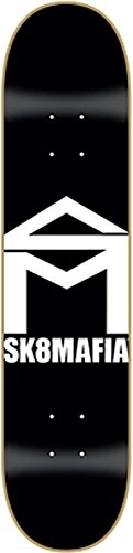 Sk8mafia House Deck 8.0 Black White Skateboard Decks