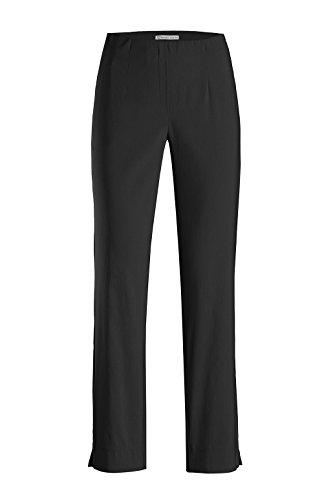 Stehmann - Stretchhose INA 740 - VIELE Farben - Mit EXTRA-Fashion Armreif -Gerade geschnittene Pull-On Hose mit Schlitz, Hosengröße:42, Farbe:Schwarz
