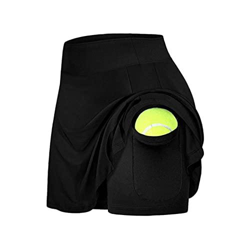 Hhwei Deportes Fitness Falda Corta Damas Tenis Golf Falda Transpirable Casual Falda Corta con Bolsillos