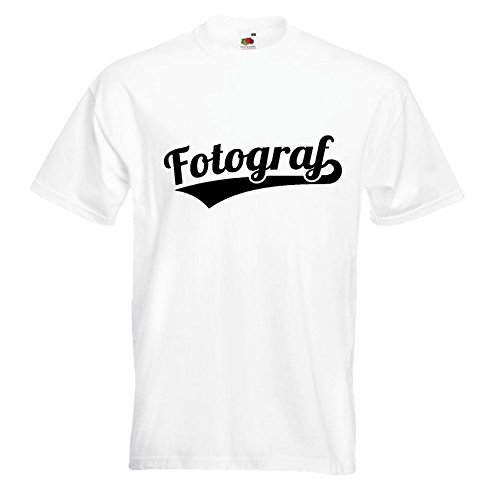 Shirtzshop - Camiseta de manga corta, diseño de cámara digital, color blanco Blanco L