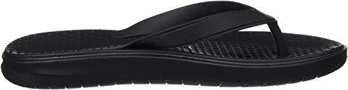 Nike Men's Solay Thong Sandal, Black/White - Black, 10 Regular US