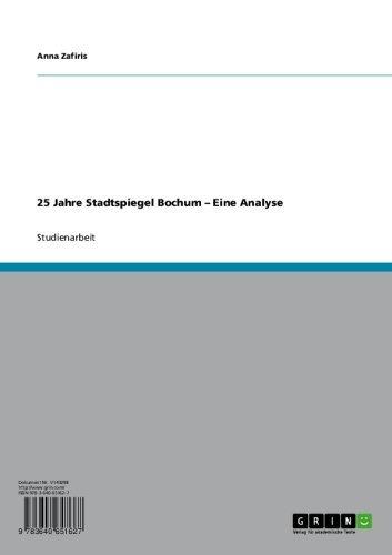 25 Jahre Stadtspiegel Bochum – Eine Analyse