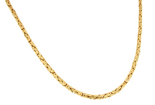 TENDENZE runde Königskette 18kt vergoldet 3,5mm Länge 65cm, direkt ab Italienischer Fabrik BZGYRD3,5-65
