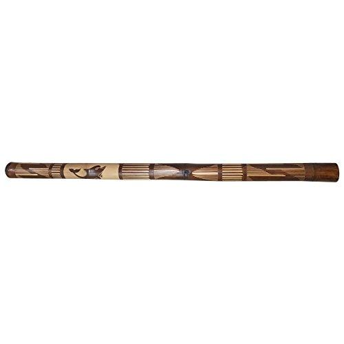 Ciffre 120cm Holz Didgeridoo Bambus Geschnitzt Delfin Fair Trade Didge Musik M7