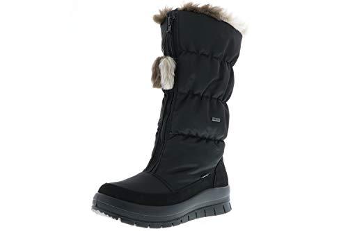 Vista Damen Winterstiefel Snowboots schwarz, Größe:42;Farbe:Schwarz