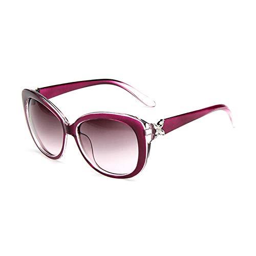 Gafas De Sol Nuevas Gafas De Sol con Montura Ovalada para Mujer, Gafas De Sol De Lujo para Mujer, Gafas De Sol Uv400 para Mujer, C4Purple