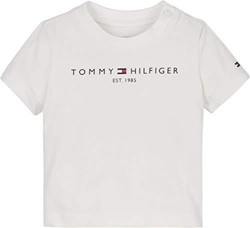 Tommy Hilfiger Baby Essential Tee S/S Camicia, Bianco, 9 Mesi Bimbo