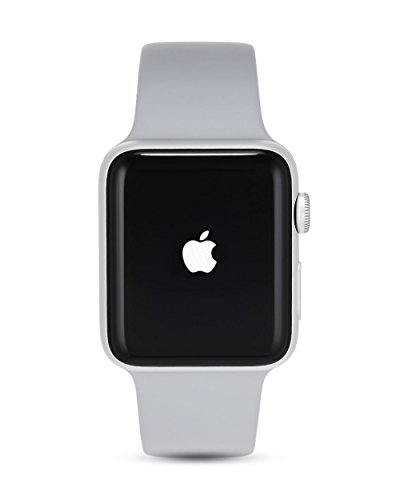 Apple Watch Series 3 42mm (GPS) - Silver Aluminium Case with Fog Sport Band (Renewed)
