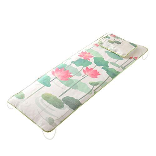 Massagetisch Kühle Matratze-Eismatte Kühlmatte Schlafmatte Sommer - Grüner Lotus, 190 x 80 cm