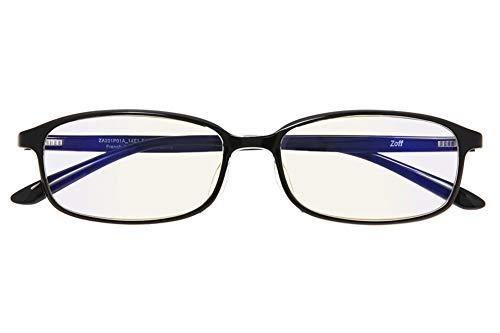 スクエア型 PCメガネ(度なし) Zoff PC ULTRA TYPE(ブルーライトカット率約50%) ゾフ PC 透明レンズ パソコン用メガネ PCめがね PC眼鏡 メンズ レディース おしゃれ【54□16-143】