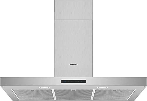 Siemens LC96BBM50 iQ300 Dunstabzugshaube / Wandhaube / 90 cm / Metall-Fettfilter / Elektronische Steuerung / LED-Beleuchtung / Edelstahl