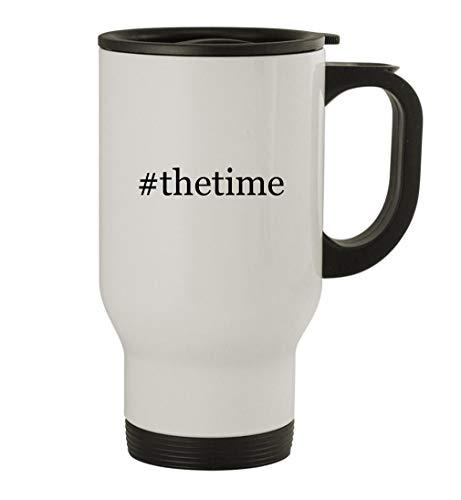 #thetime - 14oz Stainless Steel Travel Mug, White