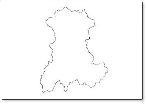 Auvergne - Imán para nevera, diseño de mapa de la región de Francia