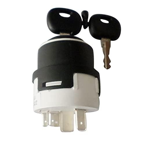 Hachiparts 1532371C2 - Interruptor de encendido (11 pines con 2 llaves) compatible con JC B compatible con Cas e IH Tractor Agrícola 585 685 5150 5220 5230 5240 5250 Compatible con New Hollan d