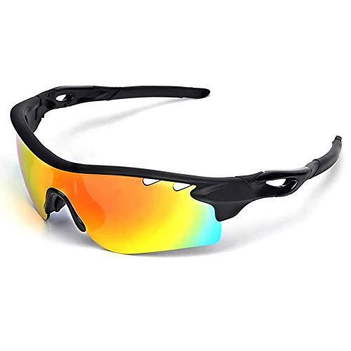 Gafas de sol deportivas polarizadas, gafas de ciclismo Trb, 5 lentes intercambiables para hombres y mujeres, montura resistente y duradera, se utiliza para ciclismo, correr, pesca, golf, A