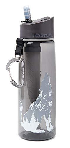 LifeStraw Go 2-Stage - Filter bottle unisex para adulto, Wolf, 650 ml