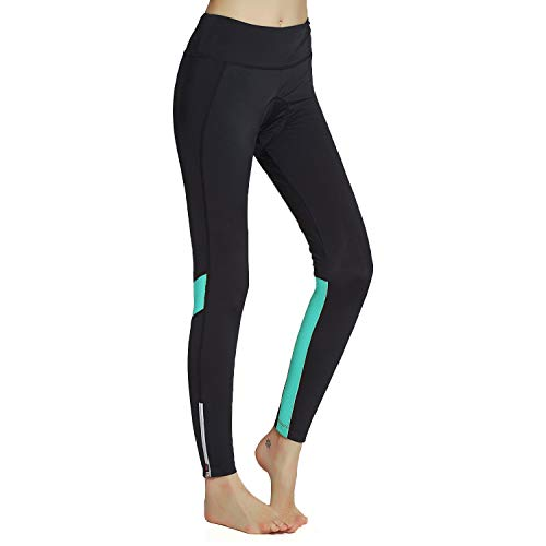 Cycling Pants Ladies Cycling Trousers Padded Bicycle Tights Women Breathable and Quick Dry Blue XXXL