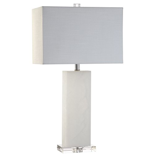 JONATHAN Y JYL2009A Tiggie 27' Alabaster LED Table Lamp Modern,Contemporary,Glam for Bedroom, Living Room, Office, College Dorm, Coffee Table, Bookcase, WhiteAlabaster