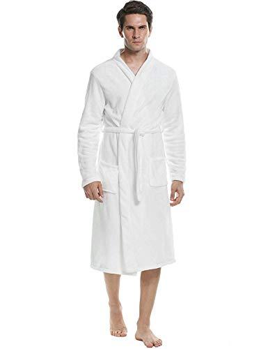 Badjas heren voorjaar zomer nachtjas fleece lange mouwen sjaal moderne casual kraag Loungewear Home Wear Saunamantel