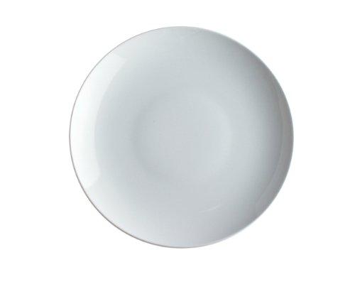 Alessi Sg53/1 Mami Assiette Plate en Porcelaine Blanche, Set de 6 Pièces