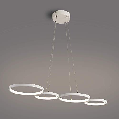 Lámpara colgante LED Moderna en forma de anillo de 88 cm de