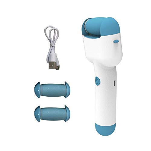 Foot Scrubber Electric Callus Remover, Rechargeable Foot File Hard Skin Remover Pedicure Tools for Feet Electronic Callus Shaver Pedicure kit for Cracked Heels and Dead Skin with 3 Roller Heads