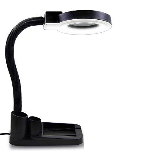 Lupe mit Licht LED Lupenleuchte 10X -fache Leuchtlupe Tischlampe Zum Lesen, Inspektion, Schweißen, Nähen, Reparaturen