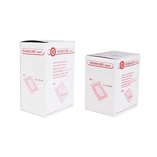 Noba Rudavlies sterile Pflaster 50 Stück (7 cm x 5 cm) + 50 Stück (12 cm x 10 cm) Wundpflaster