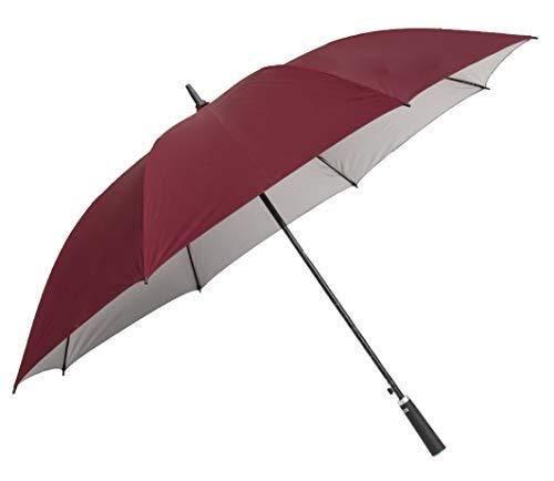 Sun Umbrella Maroon Golf Big Size UV Protective Long & Non-Foldable Umbrella