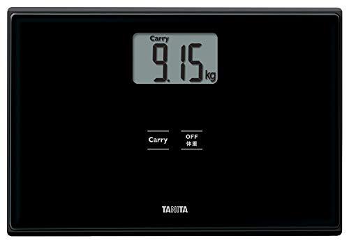 タニタ 体重計 ブラック HD-665 BK 持ったモノの重さがはかれる