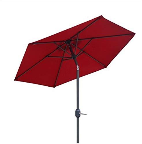 Sombrilla Parasol con Ángulo Ajustable Al aire libre jardín Patio del paraguas del parasol UV 50+, 9 pies Paraguas con botón de inclinación y 8 costillas, for el mercado Terraza Cubierta Yard lado de
